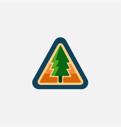 forest sign pine tree logo icon vector image