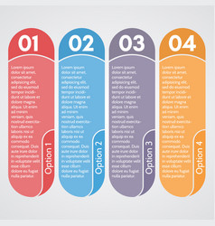 four elements of infographic design vector image