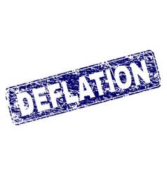 Grunge deflation framed rounded rectangle stamp vector