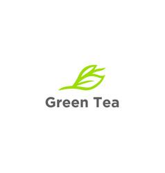 herbal green tea tea cup tea lea vector image
