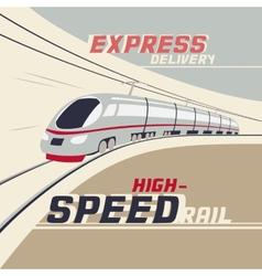 High-speed rail vector image