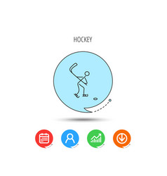 ice hockey icon professional sport game sign vector image