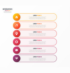 Infographic template with 6 options design vector
