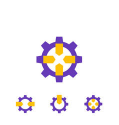 integration icons on white vector image