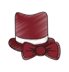 Isolated hipster hat and bowtie design vector