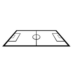 Isolated soccer field vector