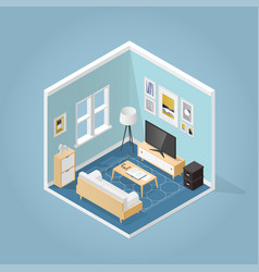Isometric living room vector