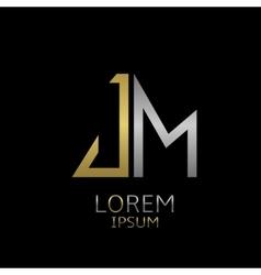 JM letters logo vector image
