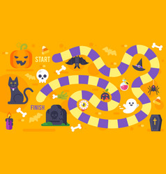 Kids halloween game template vector