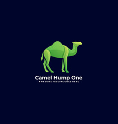 Logo camel hump one gradient colorful vector