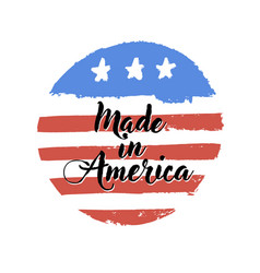 made in usa sign grunge design style doodle vector image