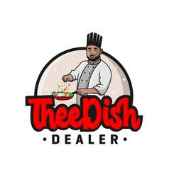 male chef logo design vector image