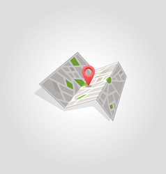 map marker pointer with road map icon design vector image