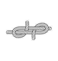 Marine rope or nautical cordage node or knot vector