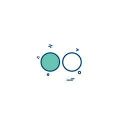 Media network social flicker icon design vector