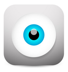 modern eye app icon vector image