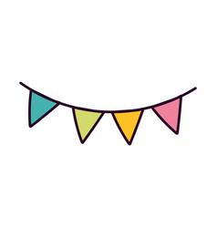 pennants decoration on white background vector image