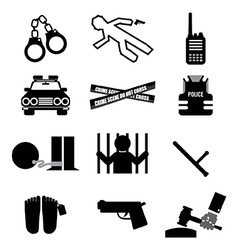 Police And Law Icon Set vector image