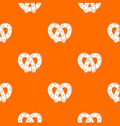 Pretzel pattern orange vector