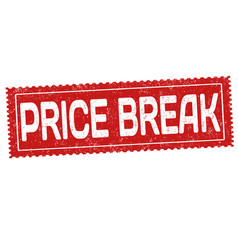 Price break sign or stamp vector