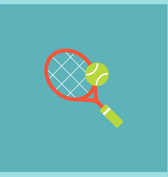 racket and tennis ball vector image