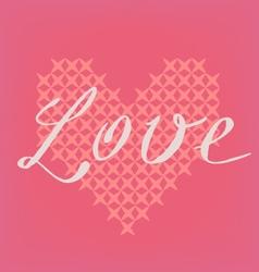 Romantic pink card vector