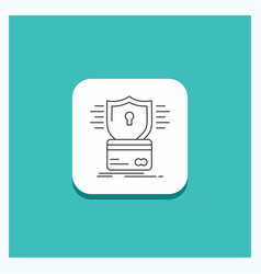 round button for security credit card card vector image