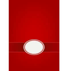 Round Label Pattern with A Red Abstract Background vector image