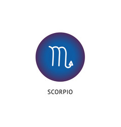 scorpio star sign icon isolated on white vector image