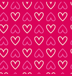 Seamless background with hearts repetitive vector
