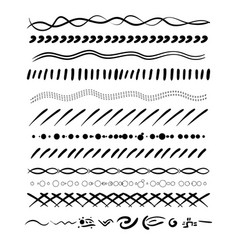 set of handdrawn borders vector image