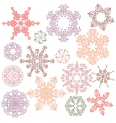 set of ornamental design elements vector image