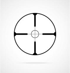 Simple sniper rifle scope crosshair vector