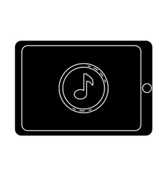 Smartphone device with music note vector