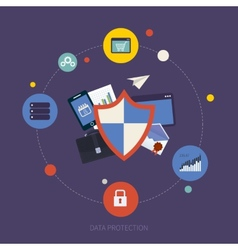 Social network security and data protection vector