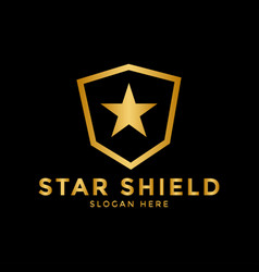 star shield logo icon design template vector image