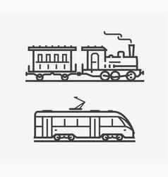 train icon transport transportation sign vector image