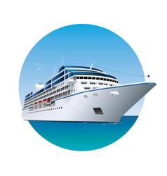 transatlantic ocean cruise ship sea resort vector image