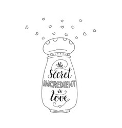 unique lettering poster with a phrase- the secret vector image