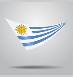Uruguayan flag background vector