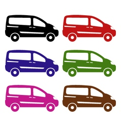 Van on white background vector