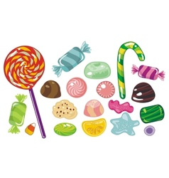 various sweets and candies vector image