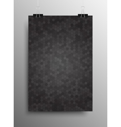 Vertical Poster Tile Honey Comb Grey Background vector