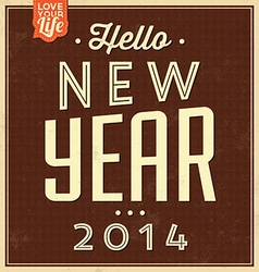 Vintage New Year Typographic Background vector
