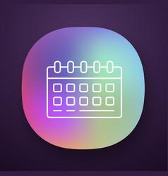 Wall calendar desk planner app icon uiux user vector