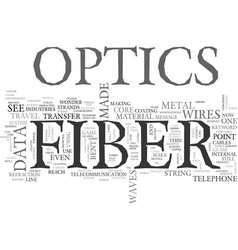 What is fiber optics text word cloud concept vector