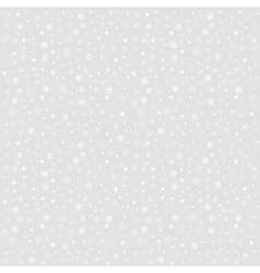 Winter Christmas seamless texture with snowflakes vector image