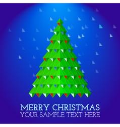 christmas-greeting-card-abstract-christmas-tree vector image