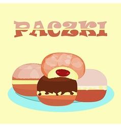 doughnut praczki vector image