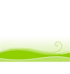 green background with swirl shape vector image vector image